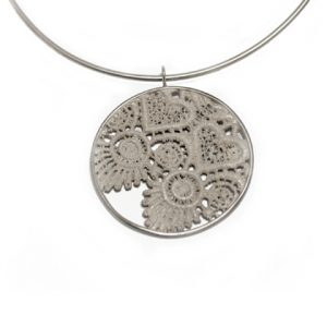 Lace Circle Flower Pendant by Rebecca Anne Lee