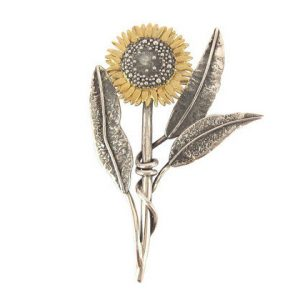 Sunflower Brooch by Sheena McMaster