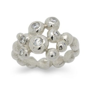 Diamond Nugget Multi Ring