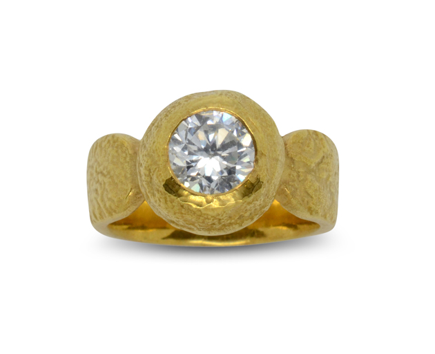 1 5ct ring 18ct gold nugget pruden and smith