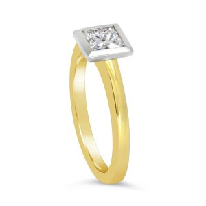 0.5ct Princess Cut Diamond Engagement Ring Halo Set