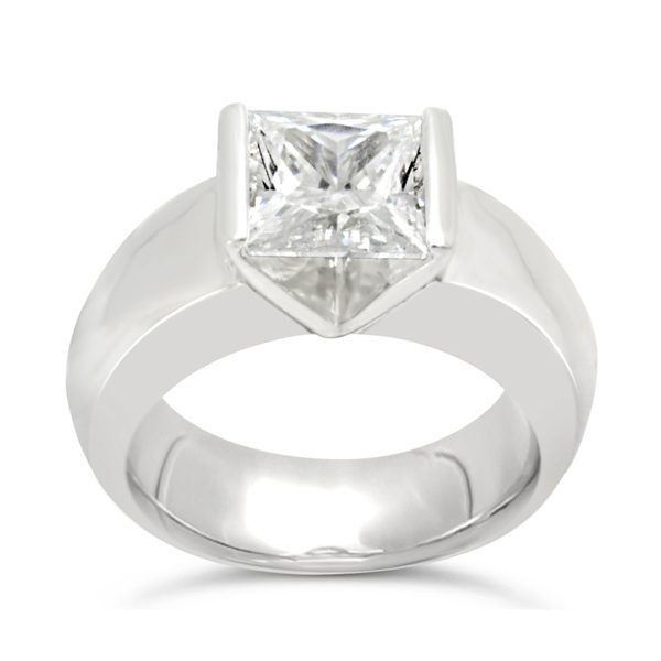 Princess Cut Diamond & Platinum Ring
