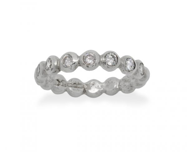 platinum nugget diamond eternity ring