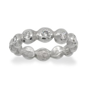 platinum nugget full eternity ring set with diamonds