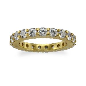 Gold claw eternity ring