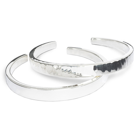 Solid Silver Torc Bangles