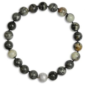 Round Picasso Jasper Necklace with Magnetic Catch