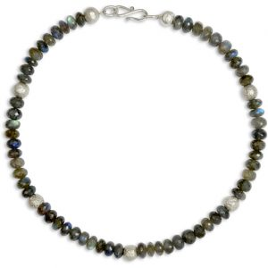 8mm Faceted Labradorite Necklace