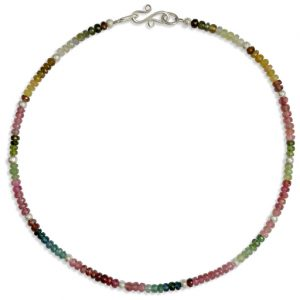 Silver Faceted Tourmaline Necklace