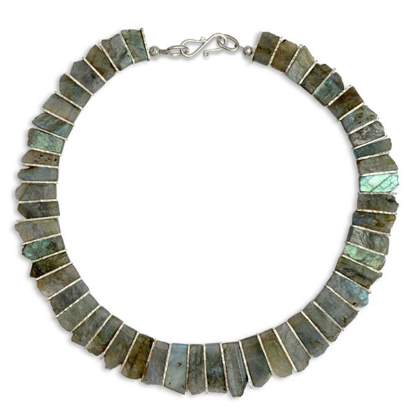 Labradorite Tab Necklace