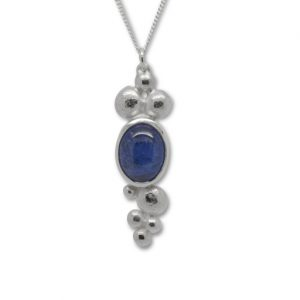 Tanzanite 10x8mm Cabochon Nugget Multi Necklace