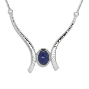 Tanzanite Outwards Forged Pendant