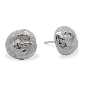 Silver Nugget Studs