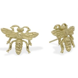 Ear Studs Gold Bee