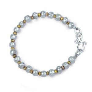 Variegated Silver and Gold Nugget Bracelet