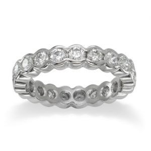 Eternity Ring with 3mm Scalloped Diamond