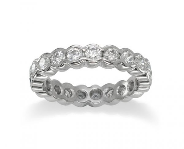 Diamond Eternity Ring Scalloped