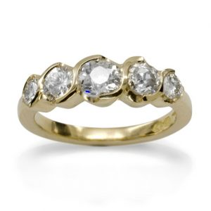 modern diamond ring reuse old diamonds