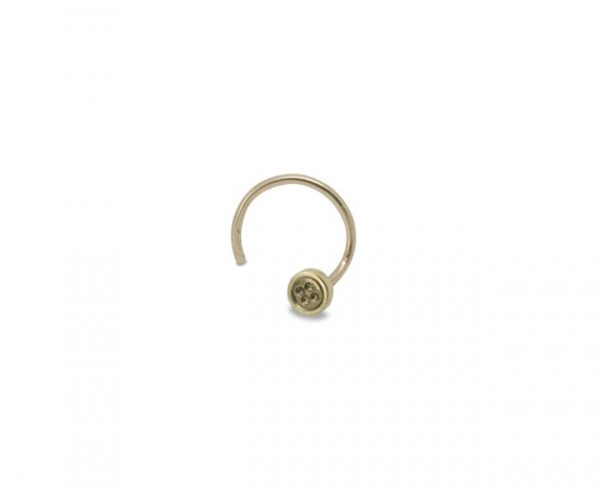 Gold Button Nose Stud