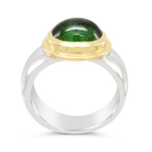 Tourmaline Ring in silver and 18ct yellow gold