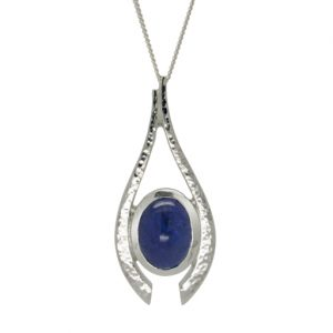 forged tanzanite pendant