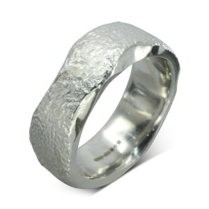 Side Hammered Textured Wedding Ring