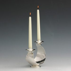 Silver Arced Candlestick