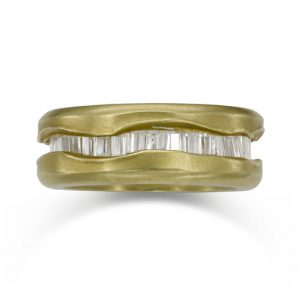 Diamond Wave Gold Eternity Ring