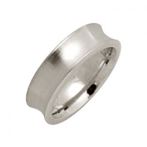 Concave Wedding Rings