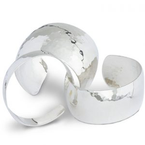 Hammered Silver cuff bangles