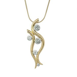 Diamond Gold Water Pendant