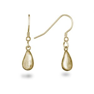 gold teardrop hammered earrings