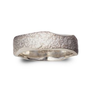 Side Hammered Reticulated Ring
