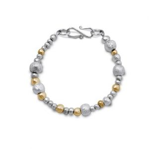 Random Silver and Gold Nugget Bracelet