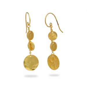 Hammered Disc Marwar Earrings