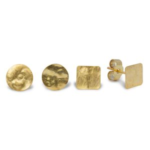 Hammered Gold Plated Marwar Studs