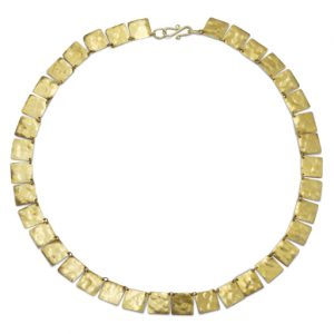 Marwar Hammered Squares Necklace