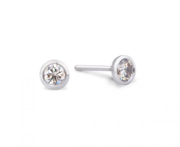 Diamond and 18ct White Gold Ear studs