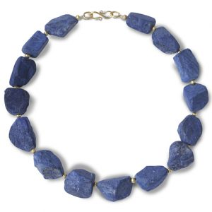 Lapis Lazuli and 9ct Gold Nugget Necklace