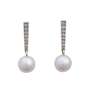 Akoya Pearl and Diamond Drop Earrings