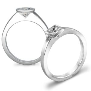 Modern Engagement Rings 0.5ct Diamond