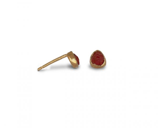 Rough Ruby Ear Studs