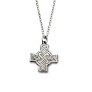 Celtic Cross Silver Pendant