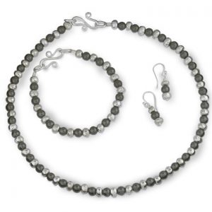 Haematite and Silver Nugget Necklace