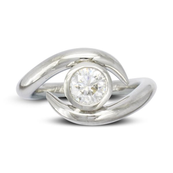 Inwards Spiky Engagement Ring