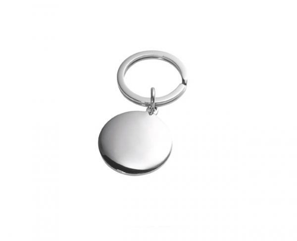 Silver Keyring Round