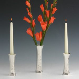 Silver Reversible Vase and Candlestick
