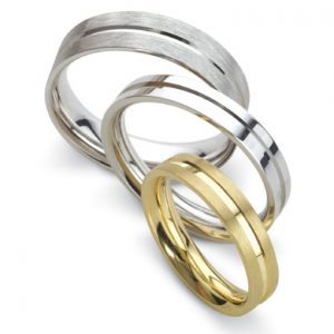 Turned Flat Wedding Rings