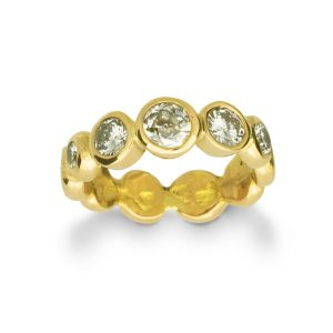 Diamond Nugget Eternity Ring