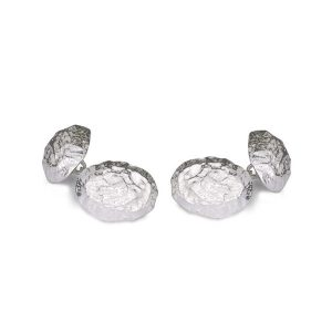 Silver Nugget Chain Cufflinks
